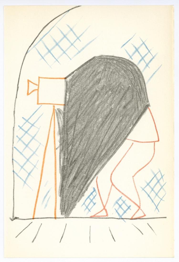 Jean Cocteau original lithograph   Les maries de la