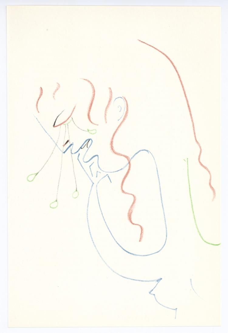 Jean Cocteau original lithograph | Antigone