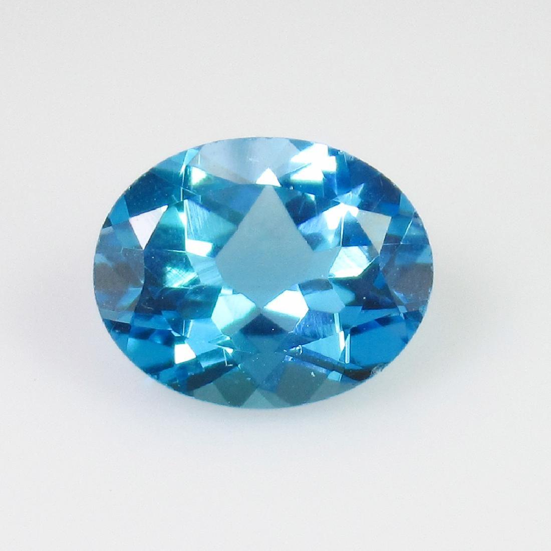2.78 Ct Genuine Blue Topaz 10X8 mm Oval Cut