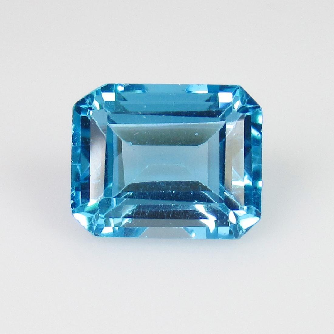 2.82 Ct Genuine Blue Topaz 8.8X7 mm Emerald Cut