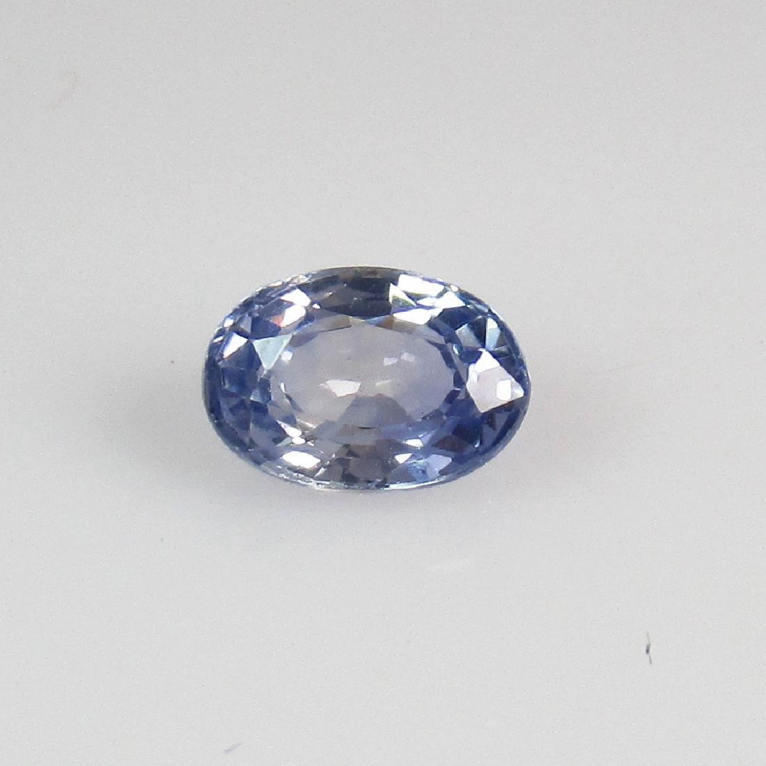 0.66 Ctw Natural Blue Sapphire 6X4 mm Oval Cut