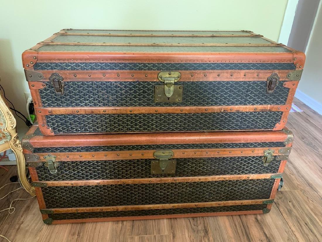 Goyard Set of Cabin Trunks