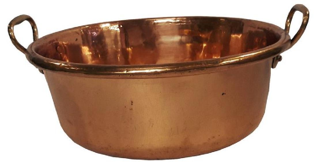 Antique French Copper Basin