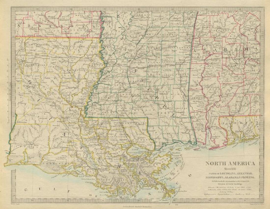 Map Of America Gulf Coast.Us Gulf Coast Louisiana Mississippi Alabama Florida