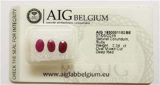 1 Sealed and Certified Rubies Red Total 2.34 ct