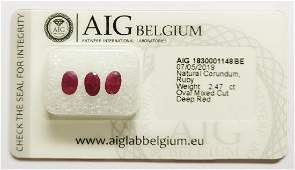 1 Sealed and Certified Rubies Red Total 2.47 ct