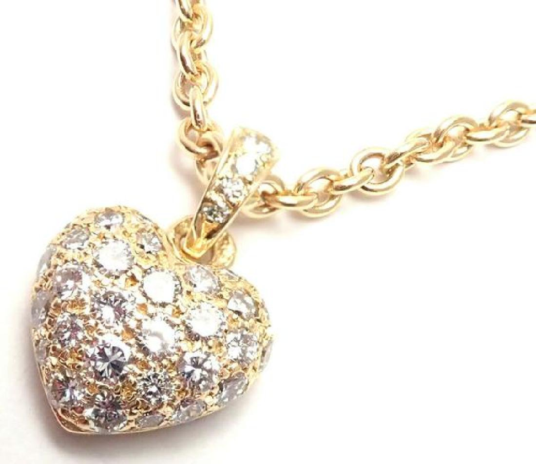 Authentic! Cartier 18k Yellow Gold Diamond Heart