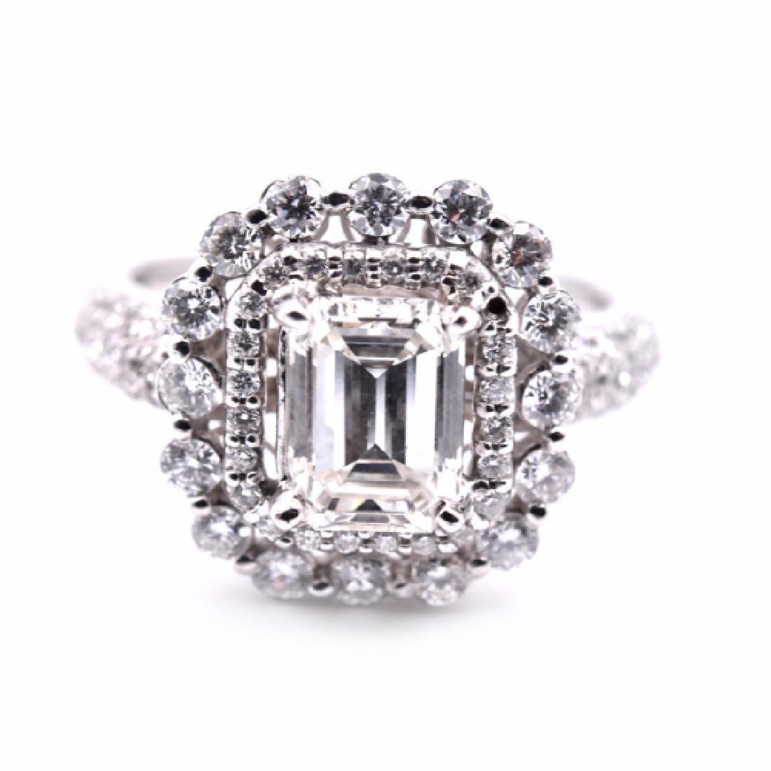 14k White Gold 1.16 Carat Diamond Engagement Ring