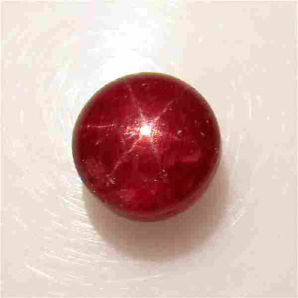 377 Ct Genuine Six Line Star Ruby 75 mm Round Cab