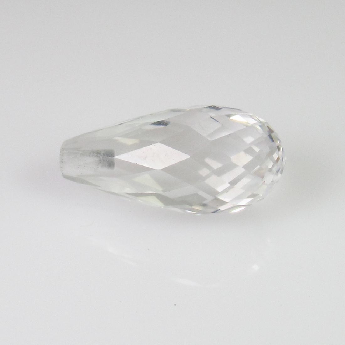 3.96 Ct Genuine White Topaz Pear Cut Drop