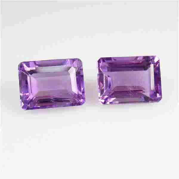 3.50 Ct Genuine Purple Amethyst 8X6 mm Octagon Pair