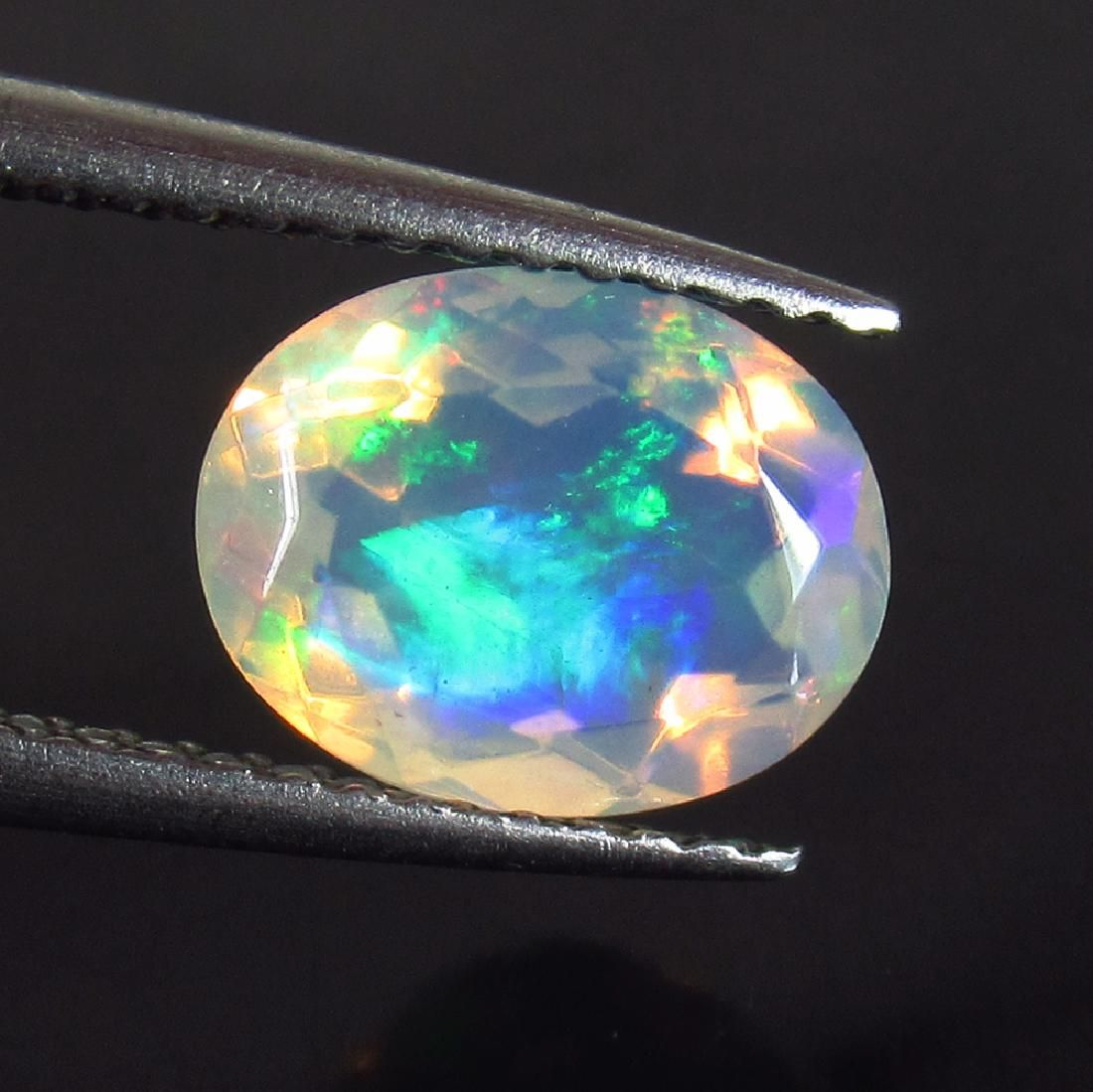 1.29 Ct Genuine Ethiopian Faceted Opal 9X7 mm Oval