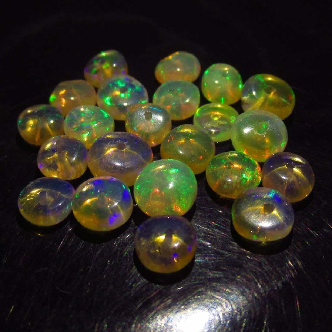 9.11 Ct Genuine 22 Ethiopian Drilled Round Opal Beads