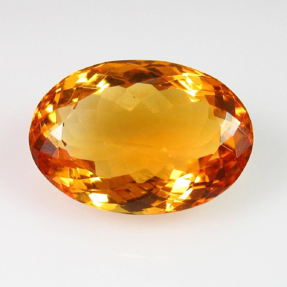 11.93 Ct Genuine Madeira Brandy Yellow Citrine Oval