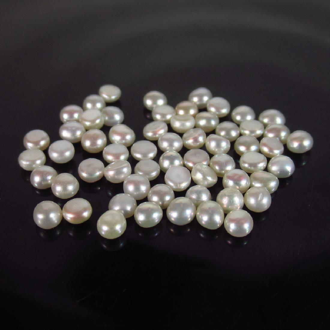 6.43 Ct Genuine 59 Fresh Water Pearl Split Round Set