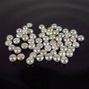 643 Ct Genuine 59 Fresh Water Pearl Split Round Set