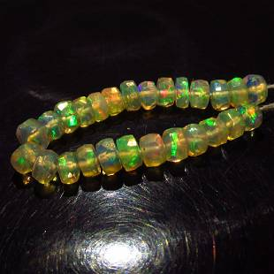 423 Ct Genuine 26 Drilled Round Faceted Opal Beads