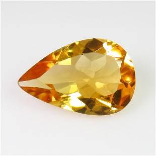 419 Ct Genuine Yellow Citrine 15X10 mm Pear Cut