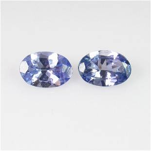 088 Ct Genuine Tanzanite 6X4 mm Oval Pair