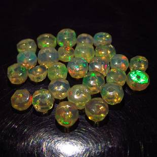 575 Ct Genuine 27 Drilled Round Faceted Opal Beads