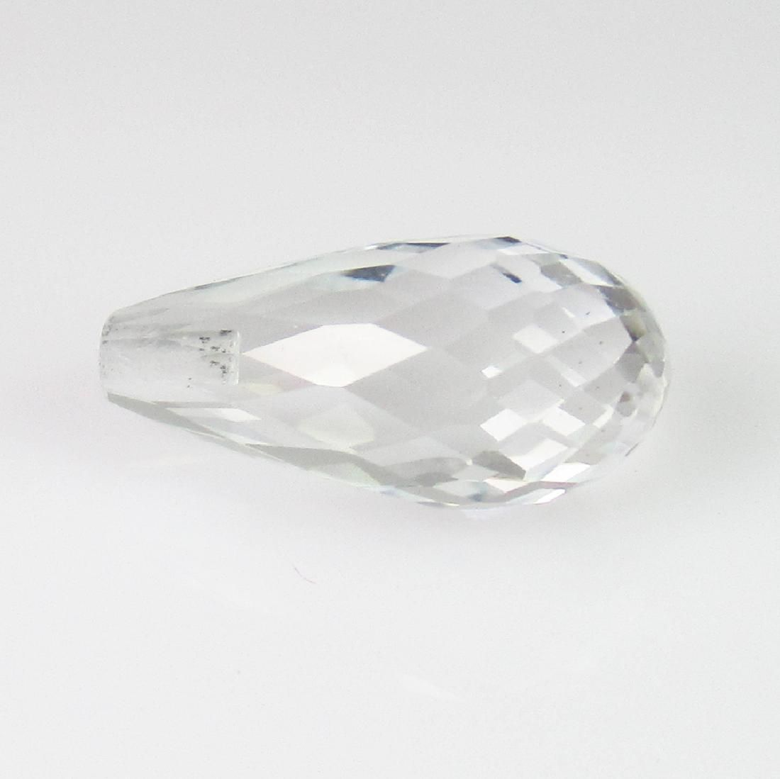 3.95 Ct Genuine White Topaz Pear Cut Drop