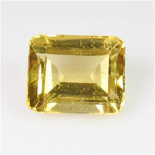 455 Ct Genuine Yellow Citrine 11X9 mm Emerald Cut