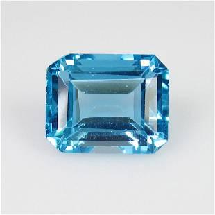 285 Ct Genuine Swiss Blue Topaz Emerald Cut