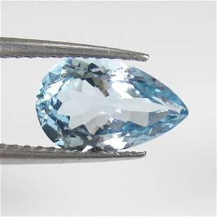 143 Ct Genuine Light Blue Aquamarine Pear Cut
