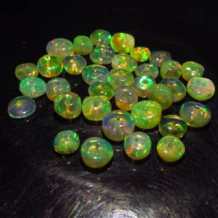 700 Ct Genuine 35 Ethiopian Drilled Round Opal Beads