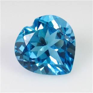 413 Ct Genuine Swiss Blue Topaz 10X10 mm Heart