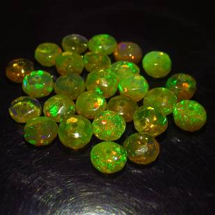 628 Ct Genuine 26 Drilled Round Faceted Opal Beads