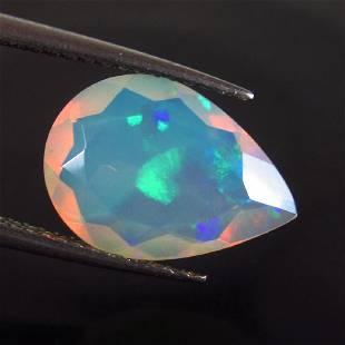 219 Ct Genuine Ethiopian Faceted Opal Pear Cut
