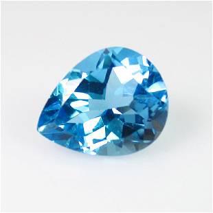 300 Ct Genuine Swiss Blue Topaz 10X8 mm Pear Cut