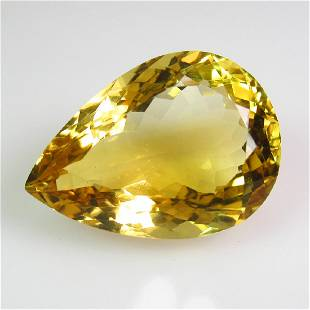 1679 Ct Genuine Yellow Citrine 27X15 mm Pear Cut