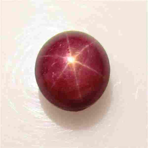3.05 Ct Genuine Six Line Star Ruby Oval Cab