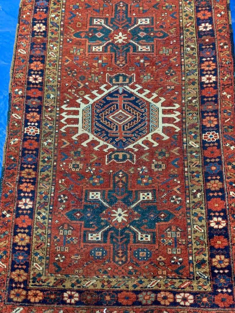 Semi Antique Hand Woven Persian Rug Heriz 5x3