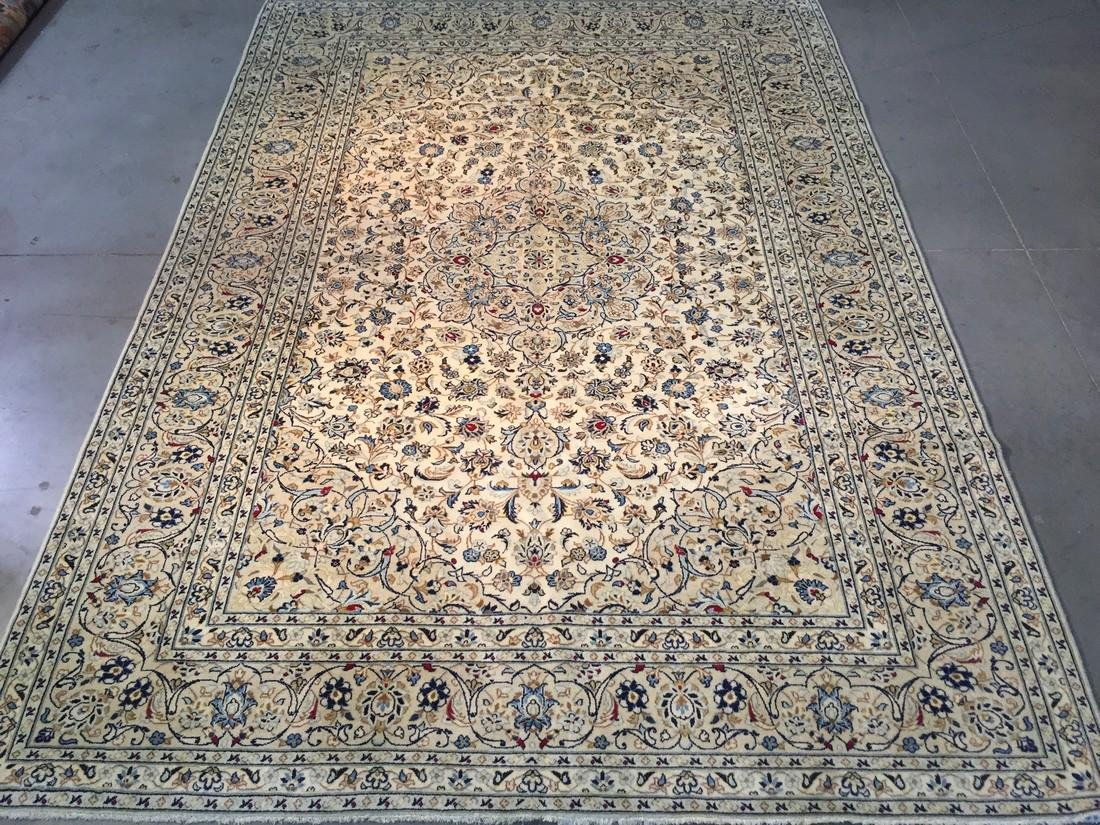 "STUNNING ANTIQUE PERSIAN KASHAN RUG 8'.2""x11'.6"""
