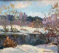 Early spring oil painting   Pivtorak Sergey Nikolaevich