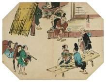 Shibata ZESHIN (1807-91), Tea-house in the countryside-