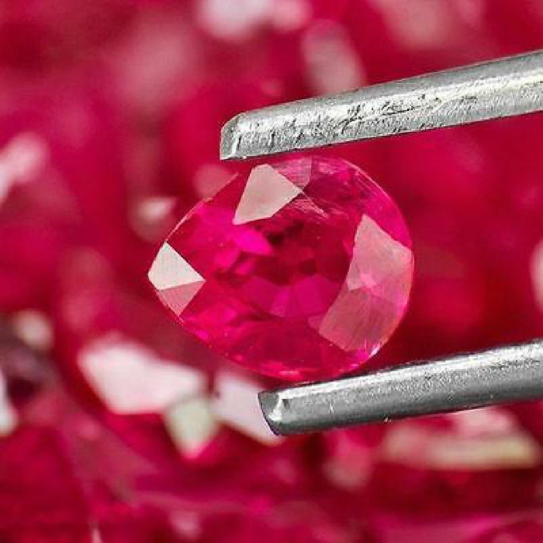 28.92-Carat Lot of Unheated Pear-Shaped Rubies from