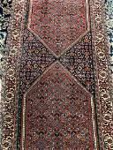 Hand Woven Persian Bijar 9.10x2.5