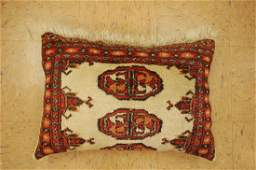 Highly Detailed Fine Turkman Rug Very Soft Wool Pillow