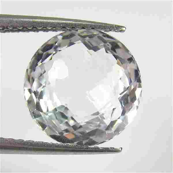 5.31 Ct Genuine White Topaz 10 mm Round Cut