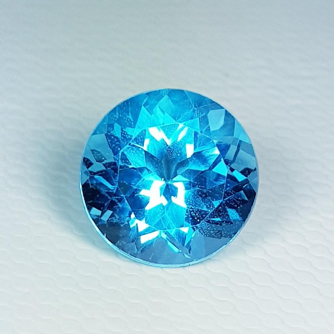 Natural Blue Topaz Round Cut 3.60 ct