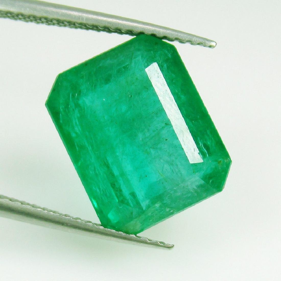 6.96 Ctw Natural Zambian Emerald 13X10.5 mm Octagon Cut