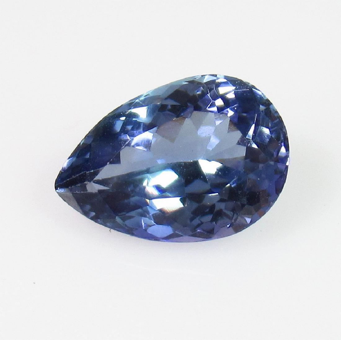 IGI Certified 2.27 Ct Genuine Blue Tanzanite Pear Cut