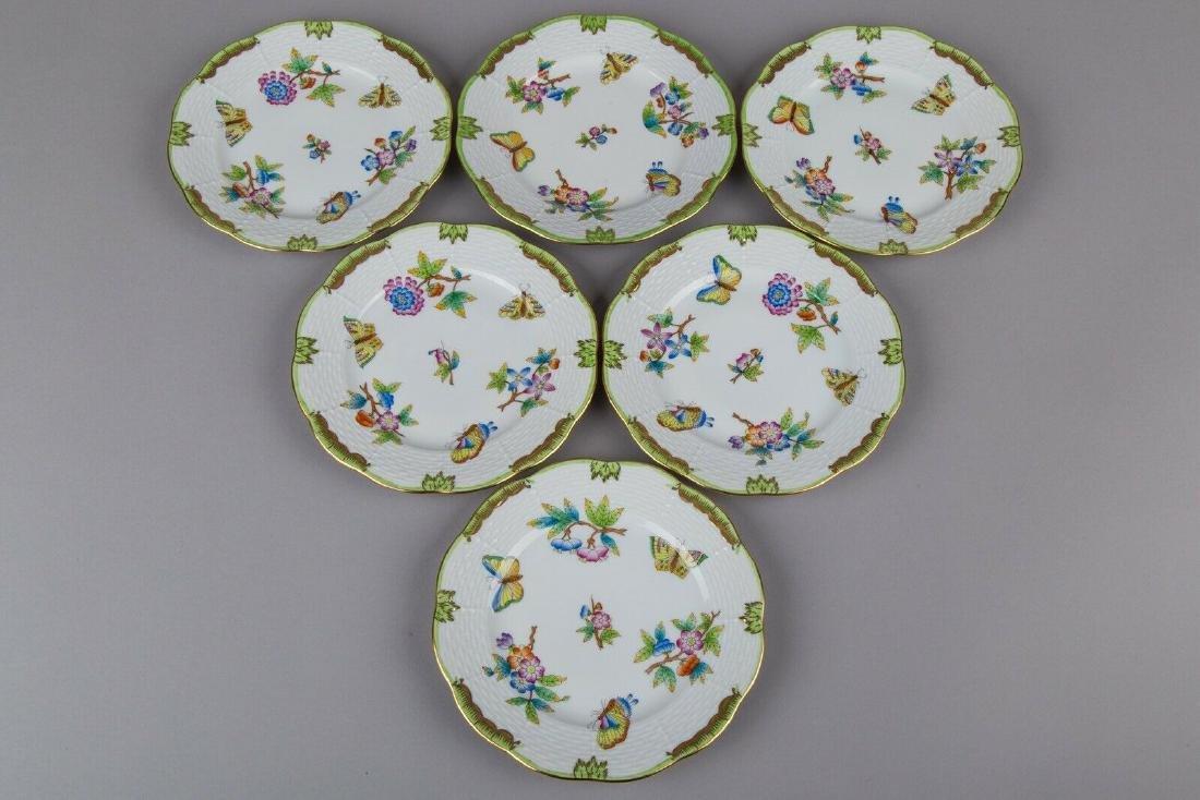 Set of Six Herend Queen Victoria Dessert Plates II., 6