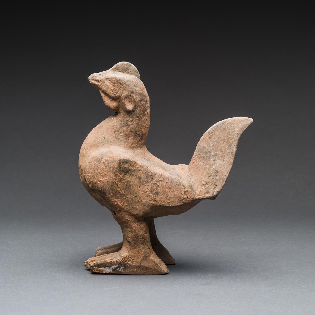 Eastern Han Terracotta Sculpture of a Chicken