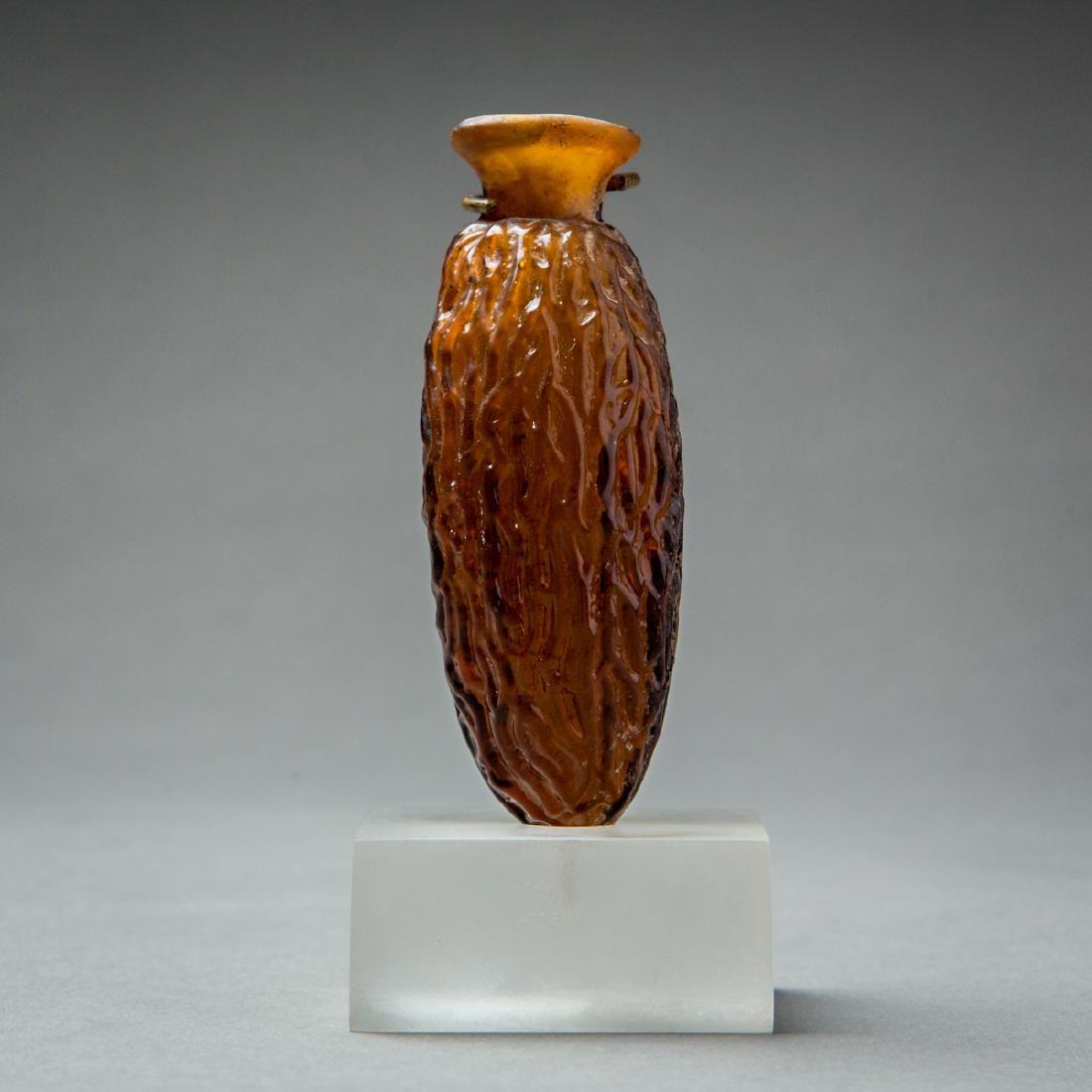 Roman Glass Date-Shaped Flask