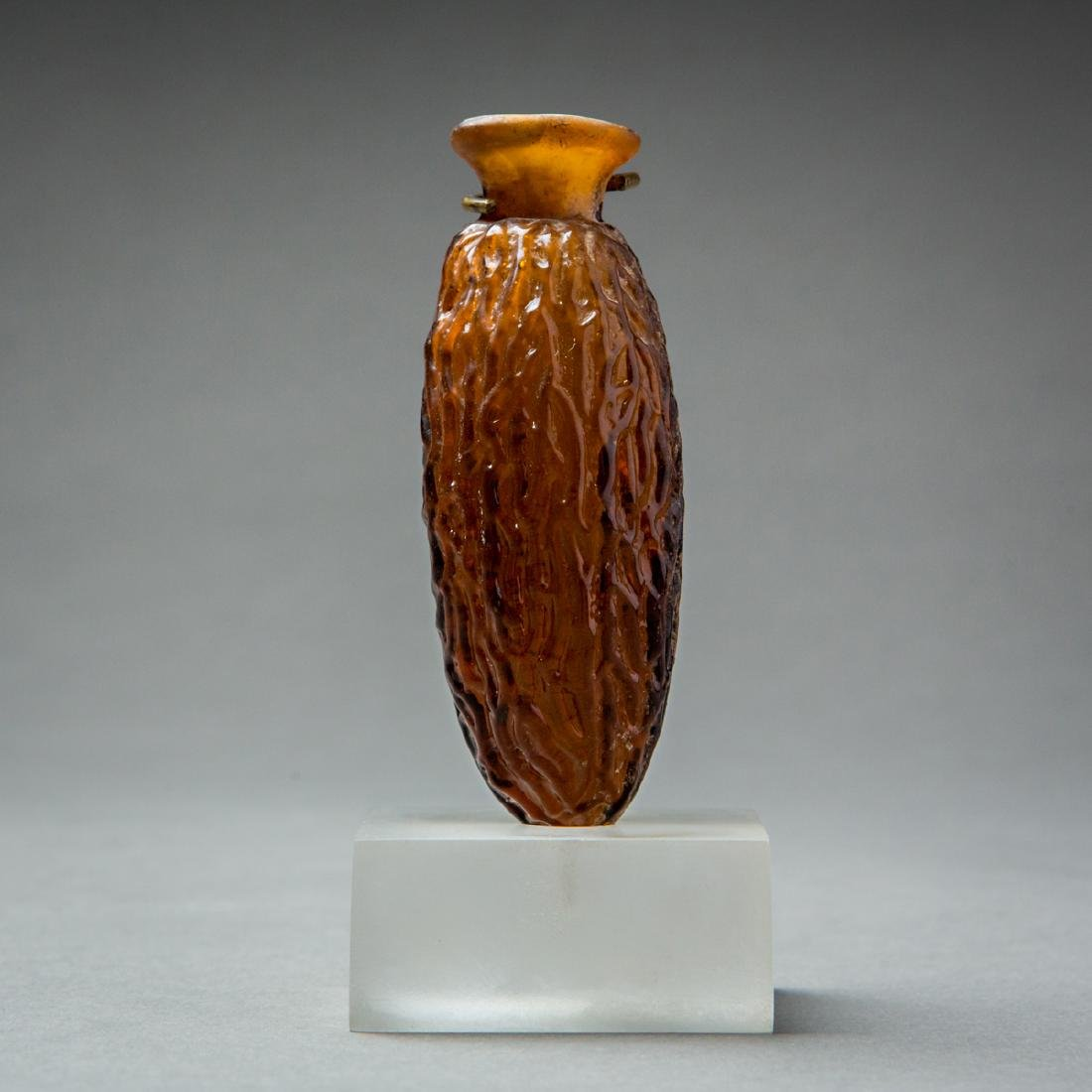 Roman Glass Date-Shaped Flask